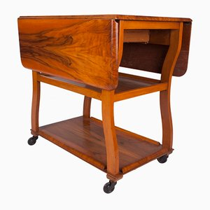 Walnut Art Deco Trolley, 1930s