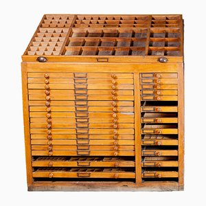 Industrial Printer's Cabinet with Drawers, 1890