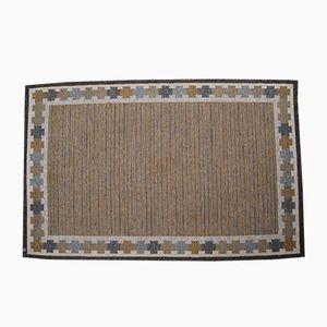 Flachgewobener Rölakan Teppich von Ingegerd Silow, 1960er