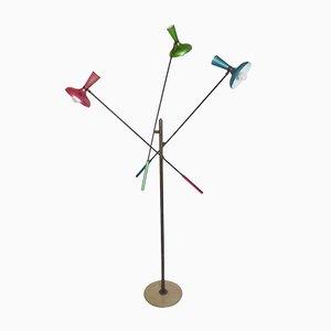 Polychrome Modernistische Italienische Stehlampe von Arredoluce, 1950er