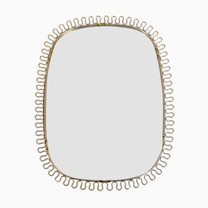 Brass Frame Mirror by Josef Frank for Svenskt Tenn, 1950s