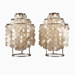 Fun Table Lamps by Verner Panton for J. Luber, 1960s, Set of 2