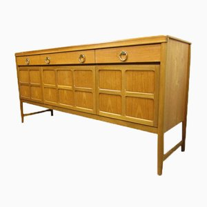Mid-Century Teak Music Console Sideboard from Nathan
