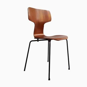 Modell 3103 Hammer Teak Stuhl von Arne Jacobsen für Fritz Hansen, 1960er