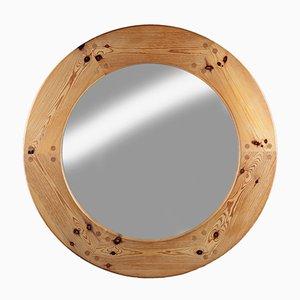gro er schwedischer spiegel mit rahmen aus kiefernholz 1960er. Black Bedroom Furniture Sets. Home Design Ideas