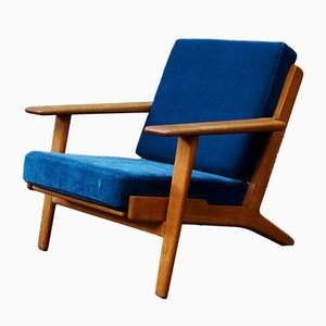 Blue GE290 Easy Chair by Hans J. Wegner for Getama