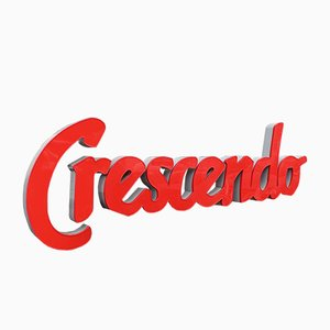 Vintage French Sign Crescendo, 1980s