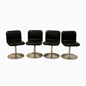 Chaises Vintage Pivotantes par Yrjö Kukkapuro pour Avarte, Set de 4