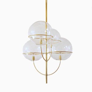Large Italian Lyndon Ceiling Light by Vico Magistretti for Oluce, 1977
