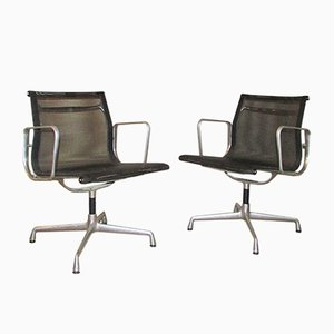 EA 107 Aluminum Chairs by Charles & Ray Eames for Vitra, 1982, Set of 2