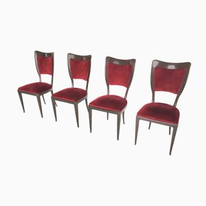 Mahagony Chairs by Paolo Buffa, 1950s, Set of 4