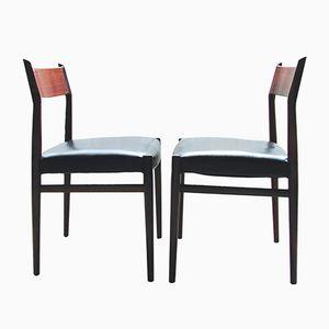 Mid-Century Modell 418 Stühle von Arne Vodder für Sibast, 2er Set