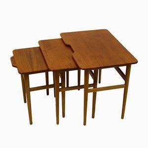 Tables Gigogne Mid-Century en Teck et en Chêne par Kurt Ostervig pour Jason Furniture