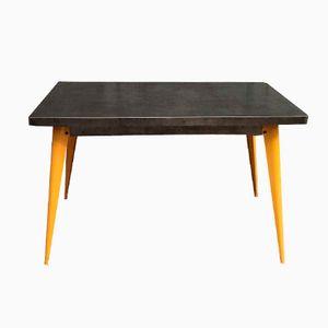 Französischer T55 Tisch mit Gelben Beinen von Xavier Pauchard für Tolix, 1950er