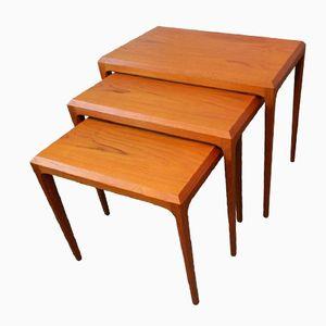 Mid-Century Danish Teak Nesting Tables by Johannes Andersen for Silkeborg, 1960s