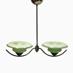 Vintage Art Deco Metal Ceiling Lamp