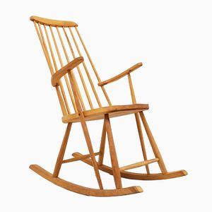 Chaise à Bascule en Hêtre, Danemark, 1960s