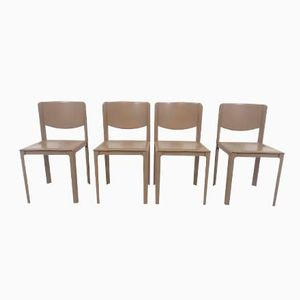 Italian Dining Chairs by Tito Agnoli for Matteo Grassi, 1970s, Set of 4