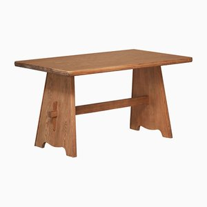 Swedish Pine Table by Goran Malmvall, 1940s