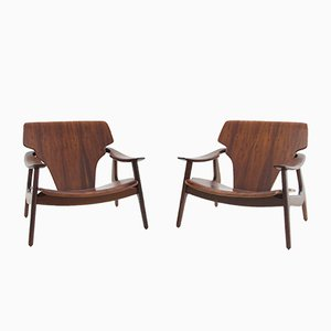Brazilian Diz Chairs from Sergio Rodrigues, 2002, Set of 2