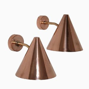 Brass & Copper Wall Light by Hans Agne Jakobsson for Markaryd, 1960s