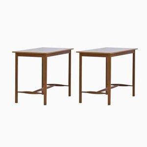 Swedish Mahogany Side Tables by Josef Frank for Svenskt Tenn, 1950s, Set of 2