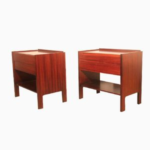 Italian Minimalist Rosewood Bedside Tables by Claudio Salocchi for Sormani, 1960s, Set of 2