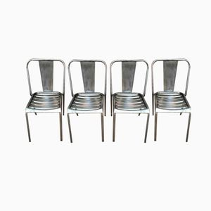 T4 Chairs by Xavier Pauchard for Tolix, 1950s, Set of 4