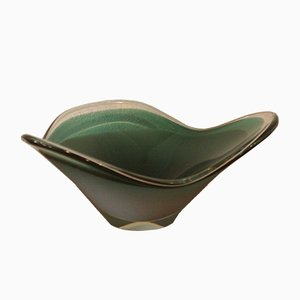 Swedish Glass Bowl by Paul Kedelv for Flygsfors, 1960s