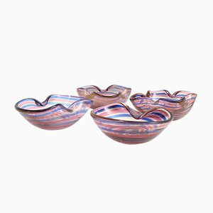 Colorful Murano Ashtrays by Fratelli Toso, 1950s, Set of 4