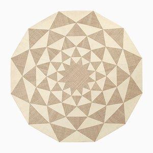 Vintage Geometric Kilim Composition Carpet