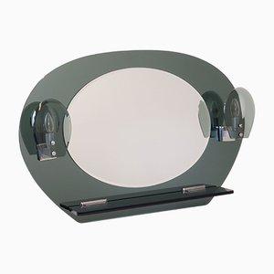 Miroir Mid-Century avec Chandelier et Console, Italie