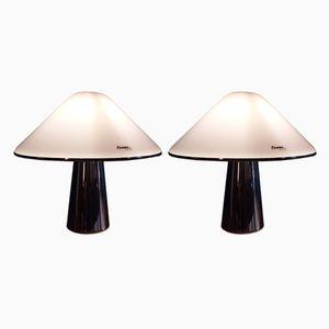Italienische Tischlampen von Guzzini, 1970er, 2er Set