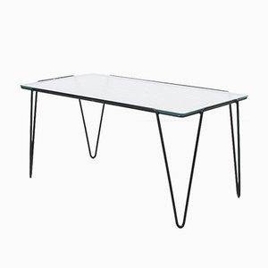 Glass Coffee Table by Arnold Buena De Mesquita for Spurs, 1955