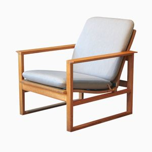 Model 2256 Oak Easy Chair by Børge Mogensen for Fredericia, 1950s