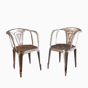 Vintage Metal Chairs by Joseph Mathieu for Multipl's, Set of 2