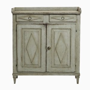 Antique Gustavian Two Door Sideboard with Original Lock and Hardware