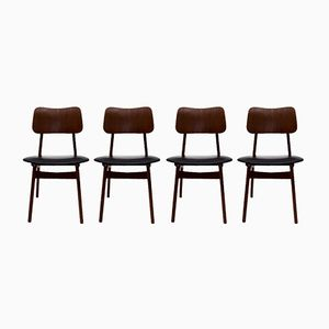 Teak Dining Chairs by Ib Kofod-Larsen for Christensen and Larsen, Set of 4