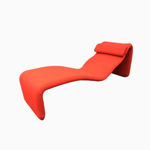 Red Djinn Chaise Lounge by Olivier Mourgue for Airborne, 1960s
