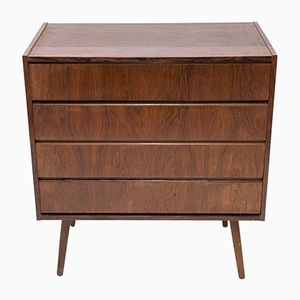 Danish Rosewood Chest of Drawers with Tapered Legs