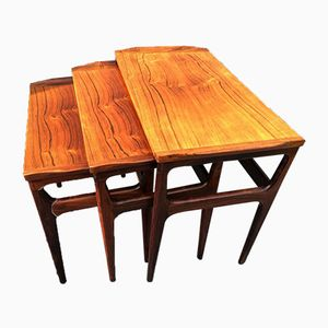 Rosewood Nesting Tables from Heltborg Møbler, 1960s