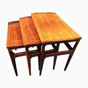 Tables Gigognes en Palissandre de Heltborg Møbler, 1960s