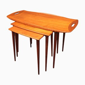 Teak Nesting Tables by Jens Quistgaard, 1960s