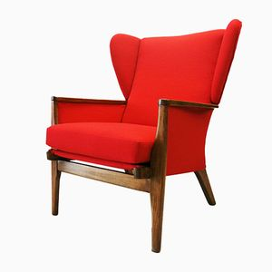 Red Armchair from Parker Knoll, 1960s