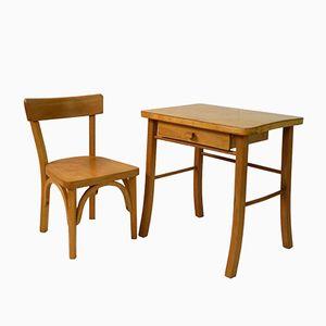 Bureau et Chaise pour Enfant Vintage de Baumann