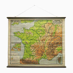 Carte de Géographie Vintage en France de la Librairie Armand Colin, 1910s