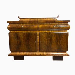 French Art Deco Oak & Walnut Sideboard, 1930s