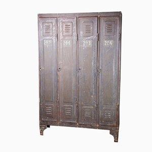 Industrial Metal Four-Door Locker, 1890s