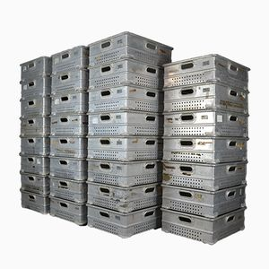 Industrial Aluminum Stacking Trays, Set of 31