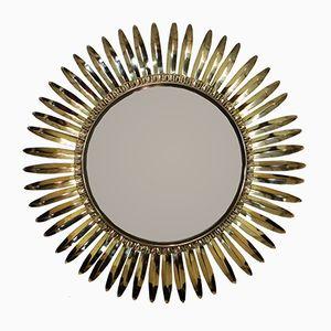Miroir Rayons de Soleil Vintage en Laiton